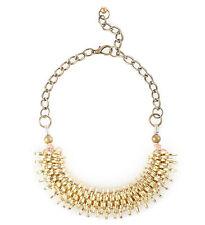Otrera Coiled Coin Disc Necklace, Gold-Tone