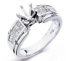 1.00 Ct G VS2 Engagement Princess Diamond Setting Wedding Ring 14k Gold White