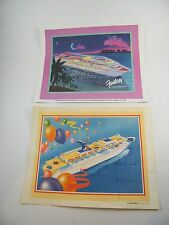 "2 - CARNIVAL CRUISE LINE PRINTS ~ ""THE CELEBRATION"" & ""FANTASY INAUGURAL CRUISE"""