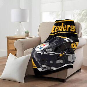 NFL Football - Plush Throw Blanket - Pittsburgh Steelers (RUN)