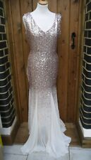 Godiva Champagne Sequin Prom Bridal Dress BNWT size 12