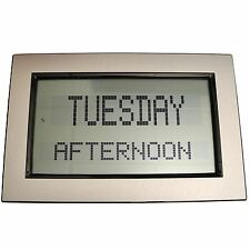 Grayson Morning Afternoon Evening &OR Time & Date Healthcare Clock Silver GP1124