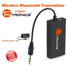 TaoTronics Wireless Bluetooth Transmitter Connected to 3.5mm Audio SB22