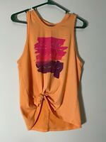 All In Motion XS Orange Sleeveless Athletic Top