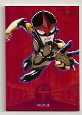 2017 FLEER ULTRA SPIDER-MAN MARVEL METAL #MM41 NOVA #/99 RED PMG #75/99