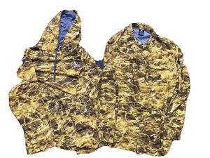 Mossy Oak Fishing Guide Shirt Yellow Camo XL (46-48) And Hoodie Yellowfin NWOT