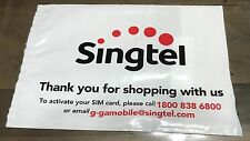 Singapore plastic cover - SingTel SIM card bag with SingPost seal