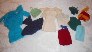 Vintage Barbie Lot of Hand Knit and Crocheted Clothing Daytime Outfits 2