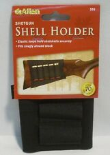 Allen Black Shotgun Shells Buttstock Holder Elastic Loops Fits Snug Holds 5