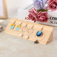 Jewellery Earrings Wooden Display Stand Ear Studs Pendant Organizer Holder Case