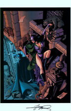 George Perez SIGNED DC Comics Batman Art Print ~ Catwoman