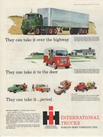 Vintage Print advertisement ad Car 1959 IH International Trucks Over the Highway