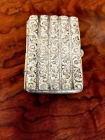 Superb Heavy Gauge Asian/Middle Eastern Silver Hinged Cheroot Case: No Monogram
