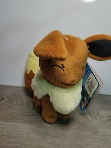 Pokemon Plush EEVEE Eyes Closed TOMY  Stuffed Soft Toy NWT