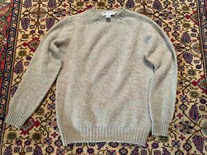 Harley of Scotland Shetland Sweater Ugie Pearl sz M