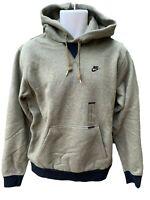 NEW NIKE Sportswear NSW Heavy Cotton Fleece Hoodie Olive Green L