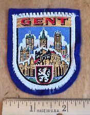 GENT Belgium Belgian Cityscape Felt Woven Patch Badge