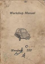 TROJAN 200 ( HEINKEL TYPE ) BUBBLECAR ORIGINAL 1960 FACTORY WORKSHOP MANUAL
