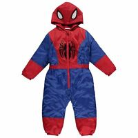 Marvel Spiderman  Hooded Snowsuit Puddle Suit All In One ~ Sizes 2-10 Years
