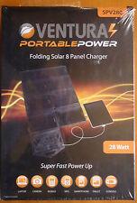 Ventrura Portable Power SPV280 Pieghevole Caricatore Solare Pannello 8, NUOVO e SIGILLATO
