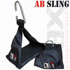 Weight Lifting Ab Sling Pull Up Bar Straps Fitness Exercise Training BLACK - DBX