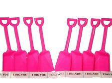 """72 Teal Toy Plastic Shovels /& 72 /"""" I Dig You/"""" Stickers Mfg USA Lead Free*"""