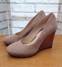 2201fab7a8b Clarks Womens Grey Wedges Suede Patent Silver Wedge Heels Shoes UK 4