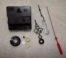 "Reverse Quartz Battery Clock Movement Backwards Time 1/4"" Thick Dial Quartex NEW"