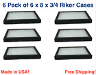 6 Pack of 6 x 8 x 3/4 Riker Display Cases Boxes for Collectibles Jewelry &More