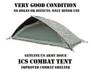 US ARMY ACU UCP MILITARY 1-MAN ICS IMPROVED COMBAT SHELTER TENT SYSTEM TCOP LN