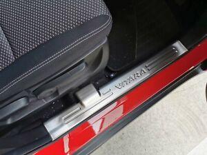S/S Inner Door Sill Scuff Kick Step Plate Protector for Suzuki Vitara 15-20
