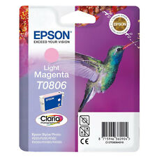 Genuine Epson T0806 Hummingbird Ink Light Magenta TO806 Epsom