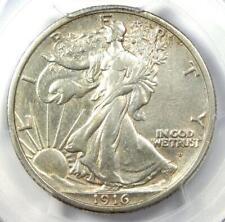 1916-D Walking Liberty Half Dollar 50C - PCGS Certified - AU Detail - Rare Date!