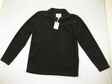 Mens Black Fleece St. John's Bay Zip Collared Jacket Quarter Zip Coat Small New