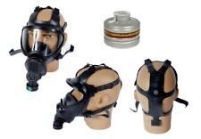 Gr.L/59-62 Belg. Gasmaske BEM 4 GP Panoramamaske schwarz mit Filter