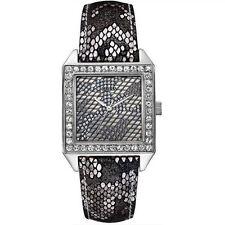 GUESS Women's U0050L1 Gunmetal Classic Glamour Python-Print Watch