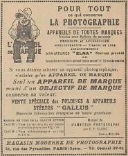 Z9563 Magasin Moderne de Photographie -  Pubblicità d'epoca - 1921 Old advert