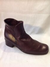 Ladies Brown Ankle Leather Boots Size 38