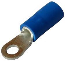 10x Cosse électrique à oeil oeillet isolée M3 Ø3.2mm 1-2.5mm2 bleues