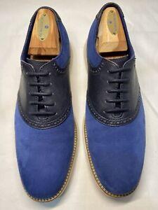 COLE HAAN Grand.OS Blue Saddle Oxford Dress Shoes C24915 Men's 8 M EUC
