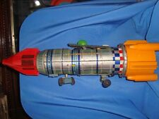 Old Vintage Battery Operated Tin Space Frontier Rocket Toy from Japan 1960