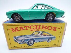 VINTAGE MATCHBOX No.75b FERRARI BERLINETTA IN ORIGINAL BOX ISSUED 1965