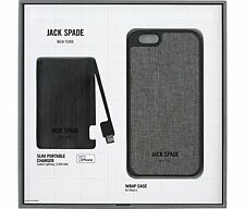 Jack Spade Co-Mold Case for iPhone 6 iPhone 6s + Slim Power Bank Gift Set New