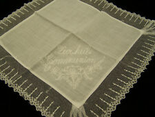 First Communion Hanky Lace and Embroidery