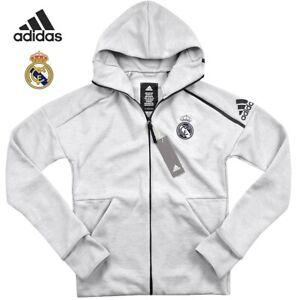 Adidas Real Madrid Z.N.E Hoodie Herren Kapuzen Jacke Trainingsjacke Sport grau S