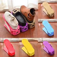 Double-layer Thicken Shoes Holder Storage Rack Space-saving Organizer Adjustable