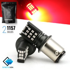 2X 1157/2057/7528 SMD Bright Red Brake Tail Stop 24-LED Lamp Light Bulbs