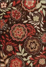 "2x8 Milliken Garden Passage Red Modern Floral Area Rug - Approx 2'1""x7'8"""