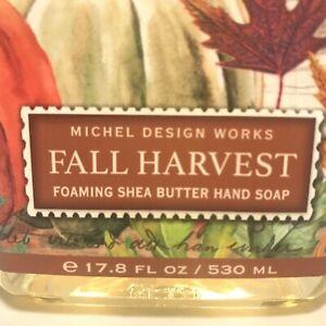 Michel Design Works FALL HARVEST Foaming Shea Butter Hand Soap Pump 17.8 Fl. Oz.