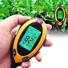 4 en 1 PH Testeur eau humidité lampe test Mètre pour Flower Garden Plante Pro AT